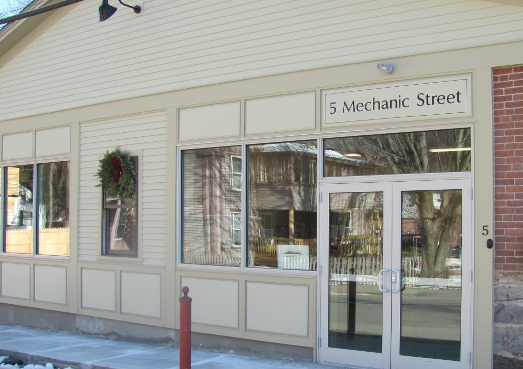 The front of the FLT office on Mechanic Street